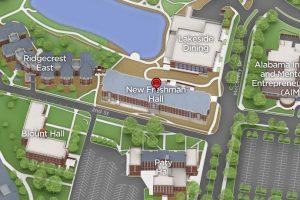 Freshman Hall Map