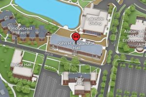 John England Jr. Hall map
